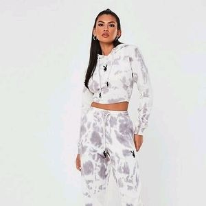 Playboy tie dye cropped sweater
